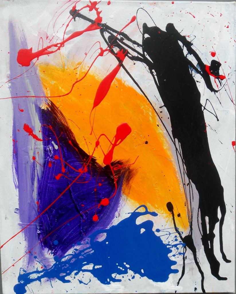 Drip Painting, 22 x 18, Acrylic