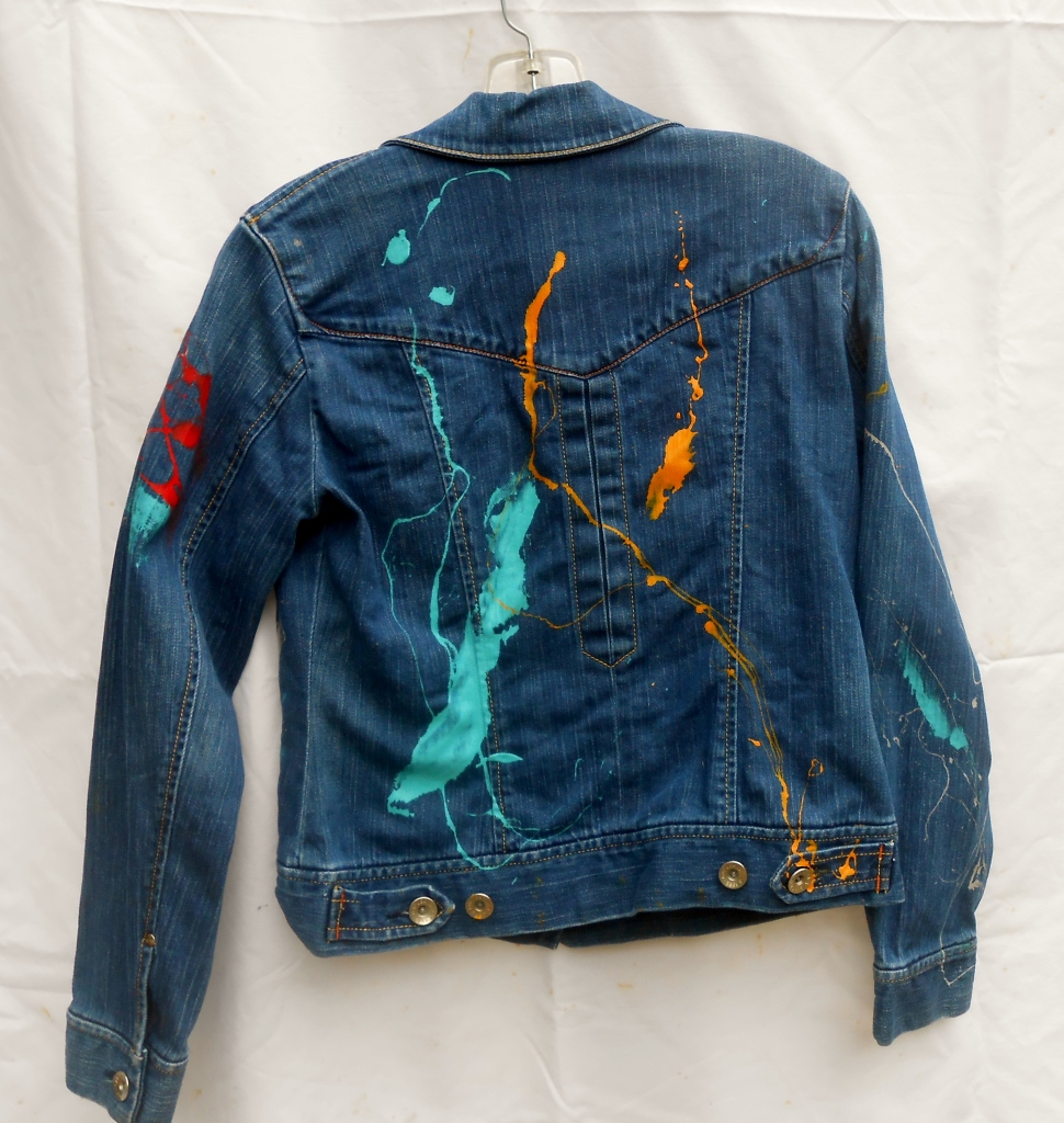 Splash and Brush Painted Jacket