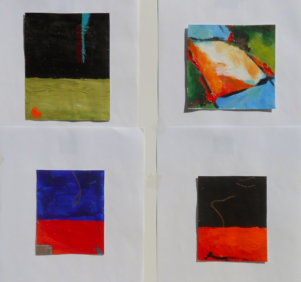 small works on paper, 4 x5